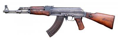 En AK-47.